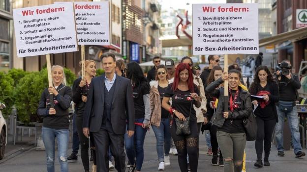 Prostituierte demonstrieren in Basel