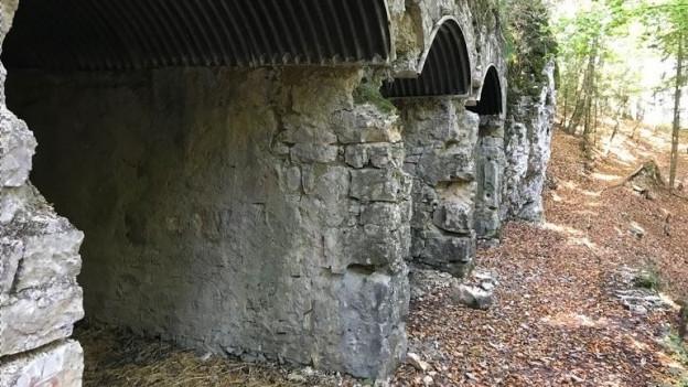 Die Schützengräben wurden errichtet, um sich im Notfall gegen französische Truppen zu verteidigen.