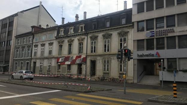 Häuserzeile am Steinengraben in Basel