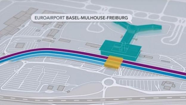 Plan Bahnanschluss