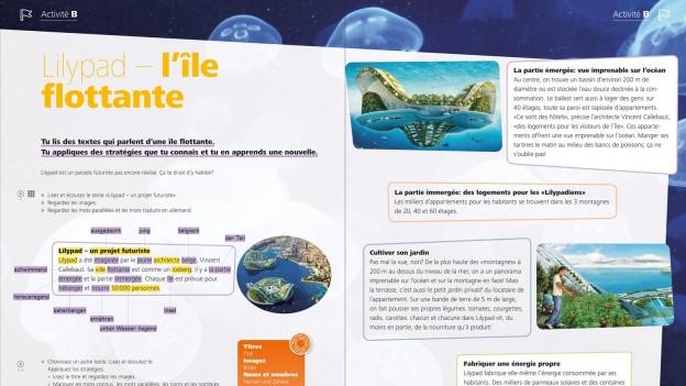 Französisch mit «Clin d'œil» - Das Lehrmittel für die 7. bis 9. Klassen baut auf «Mille feuilles» auf.