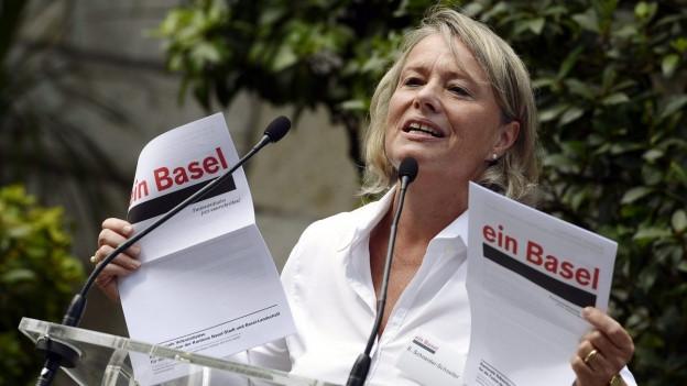 Elisabeth Schneider-Schneiter setzte sich für die Fusionsinitiative ein