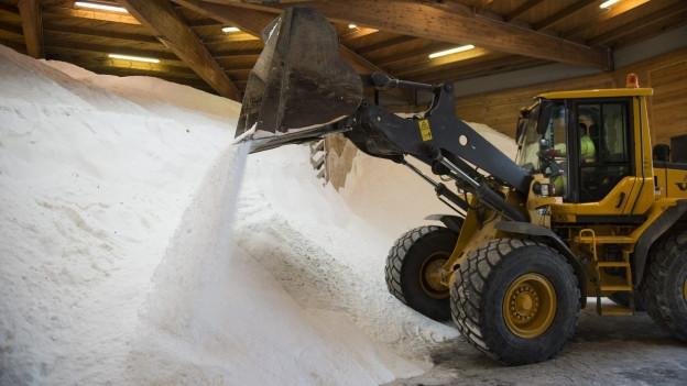 Die Schweizer Salinen stellen die Versorgung mit Salz in der Schweiz sicher