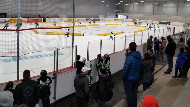 Spiel in Eishalle