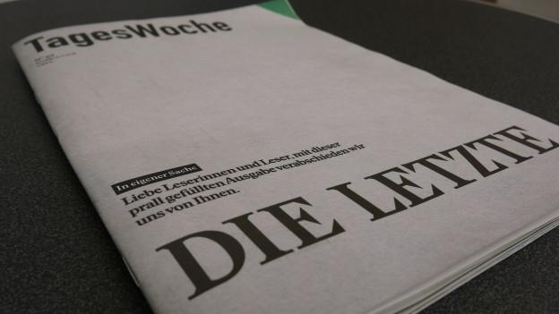 Die letzte gedruckte Ausgabe der Tageswoche