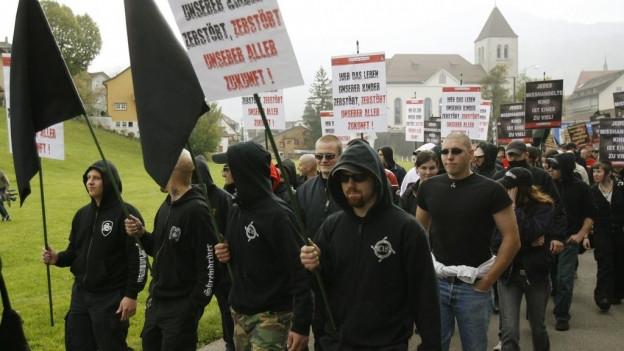Demo von Rechtsextremen (Archivbild)