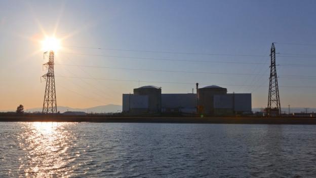 Atomkraftwerk Fessenheim im Elsass.