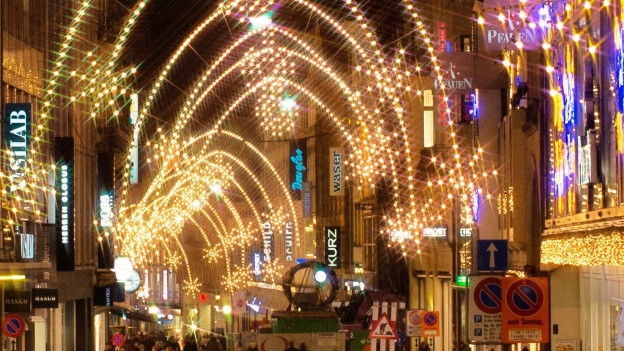 Weihnachtsbeleuchtung in der Freien Strasse