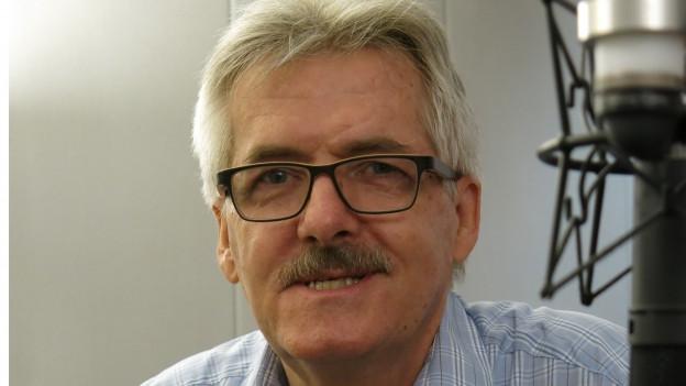 Oskar Kämpfer im Radiostudio