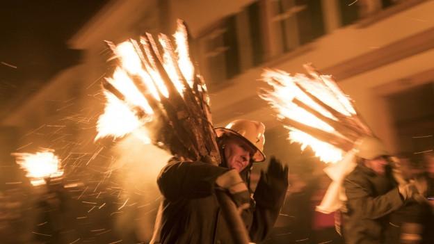 Der Feuerbrauch Chienbäse sorgt jedes Jahr in Liestal für Spektakel