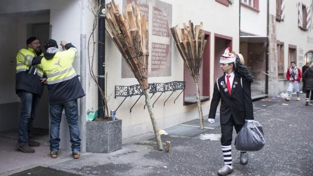 Liestal: Nach dem Fasnachtsumzug und vor dem Chienbäse