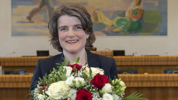 Die strahlende Siegerin: Kathrin Schweizer ist neue Regierungsrätin