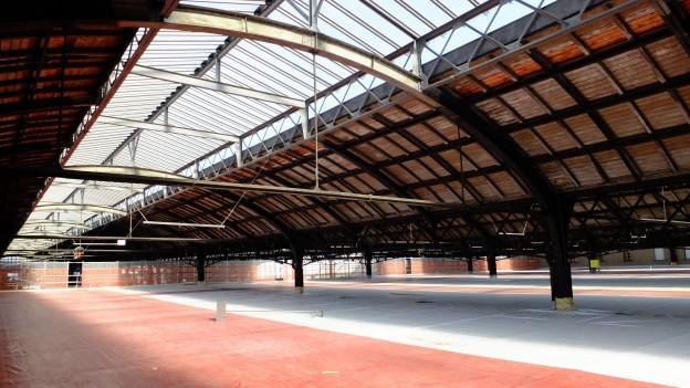 Perronhallen im Basler Bahnhof