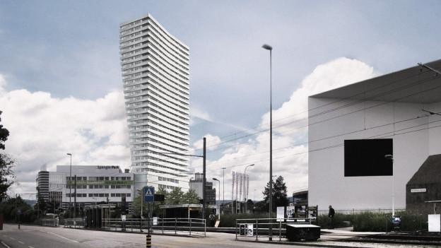 Mit 100 Metern ist das Spengler-Hochhaus momentan das viertgrösste der Schweiz.
