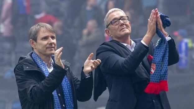 Präsident Bernhard Burgener und CEO Roland Heri wurden im Amt bestätigt.