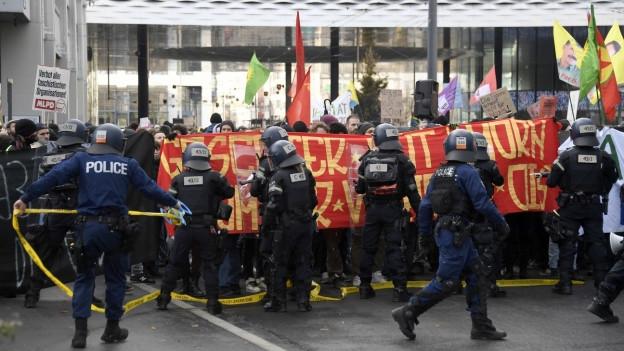 Demonstration in Basel
