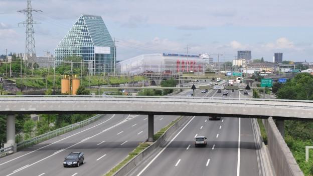 Autobahn kurz vor Basel