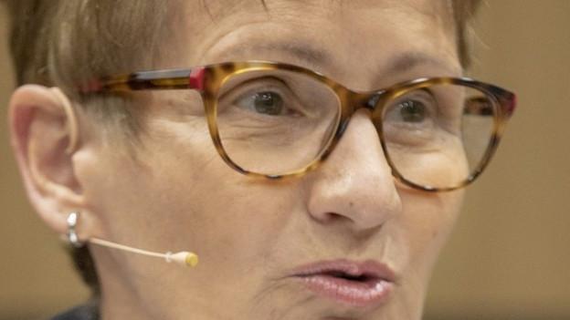 Abschied: Regierungsrätin Sabine Pegoraro
