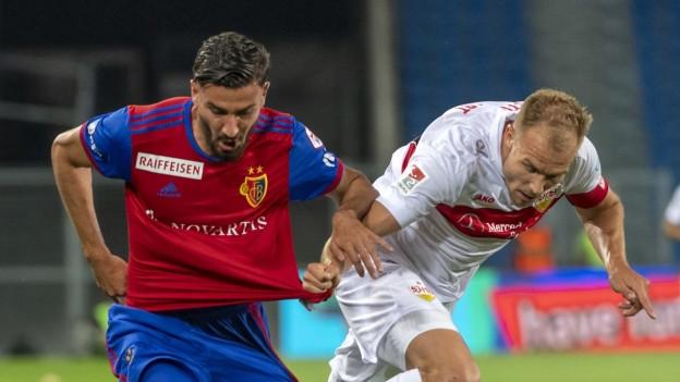 Beim Spiel gegen Stuttgart war auch der neue FCB-Spieler Kemal Ademi dabei.