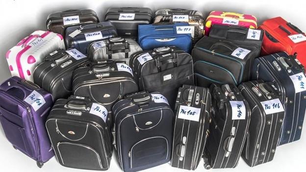 Beschlagnahmte Koffer