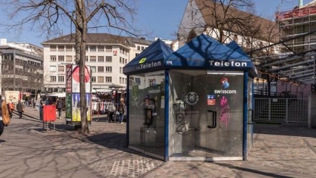Die Telefonkabinen am Barfi waren für Generationen von Baslern ein beliebter Treffpunkt.