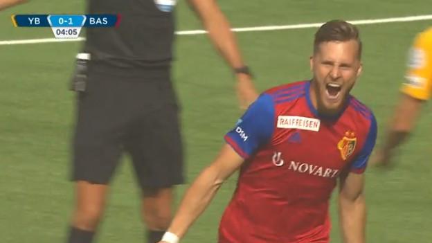 Dem FC-Basel gelang das erste Tor