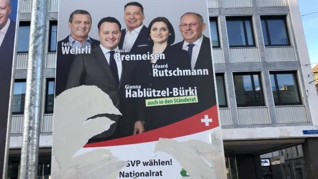 Nicht nur die SVP, sondern auch die anderen Parteien sind vom Vandalismus betroffen.
