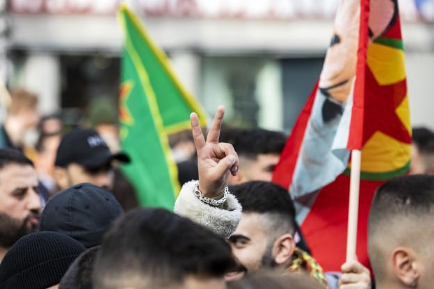 Protestierende Kurden