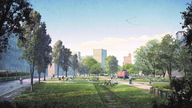Der Park soll beim Gleisfeld beim Hafen entstehen.