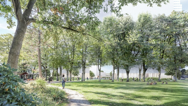 So soll der geplante Park auf dem Roche-Areal aussehen.