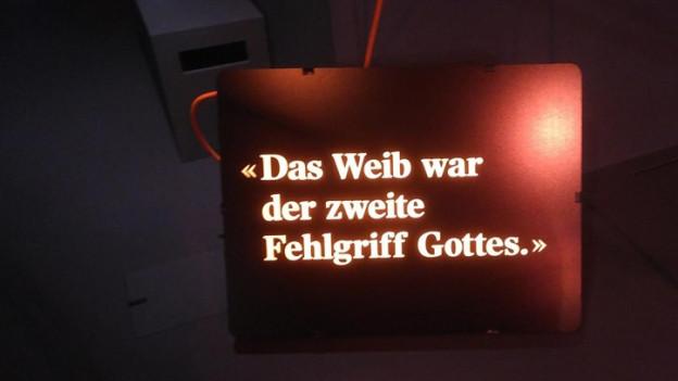 Bild aus der Nietzsche-Ausstellung