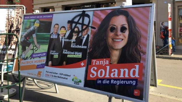 Dieses Jahr wurden mehr Plakate zerstört als in anderen Wahljahren.