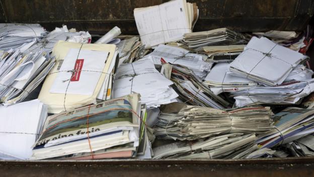 Die Entsorgung von Altpapier ist heute an vielen Orten kostenlos