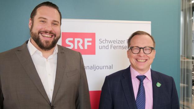 Felix Labhart und Peter Stalder im Gespräch