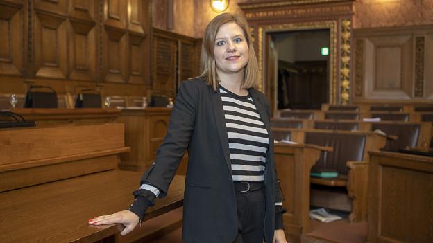 Foto Salome Hofer im Grossratssaal