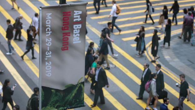 Plakat der Art Basel in Hongkong