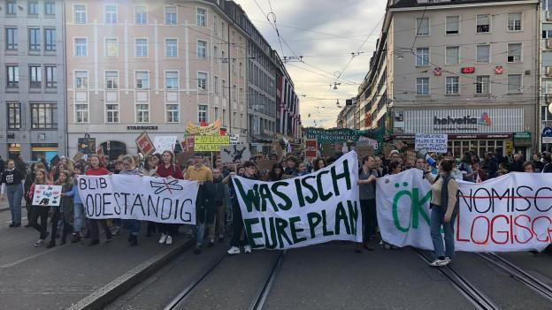 Klimademonstration in Basel