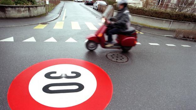 Tempo 30 ist auf Quartierstrassen weit verbreitet, auf Kantonsstrassen aber nicht