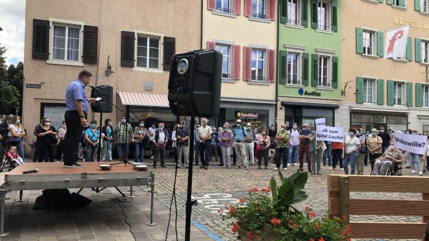 Demonstration gegen Spitalschliessung