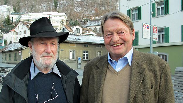 Robert Obrist (links), Architekt und Olympiagegner 1980, und Andreas Gredig, Ex-Hotelier und Olympiabefürworter 1980.