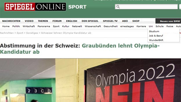 Die Schweizer Abstimmung wurde auch im Ausland wahrgenommen, zum Beispiel bei «Spiegel online»