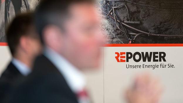 Ein Foto der Pressekonferenz des Stromkonzerns