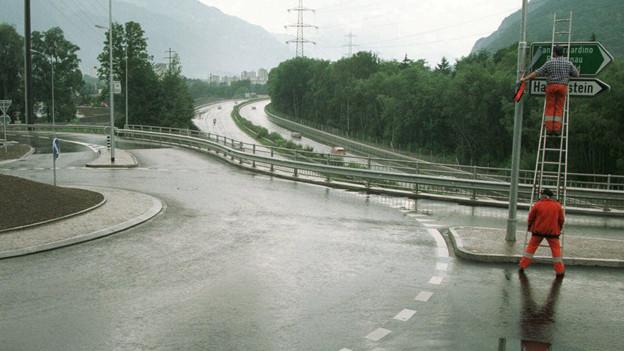 Nach dem Anschluss Chur Nord 1997, könnte es künftig mit Chur Mitte noch eine dritte Ausfahrt geben.