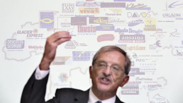 """""""Coopetition"""": Regierungsrat Hansjörg Trachsel will im Bündner Tourismus auf Wettbewerb und Kooperation setzen."""