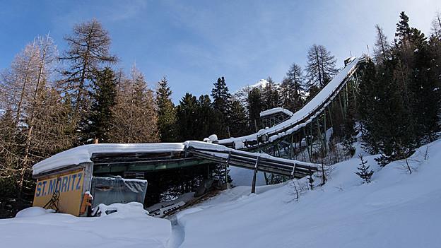 1926 wurde in St. Moritz die Olympiaschanze gebaut.