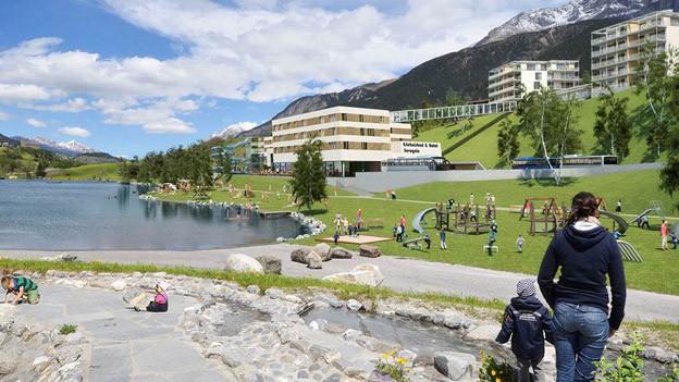 Visualisierung des neuen Hotelprojektes in Savognin.