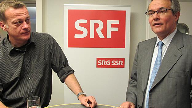 Martin Landolt (li) und Thomas Hefti (re) kämpfen um den Ständeratssitz.