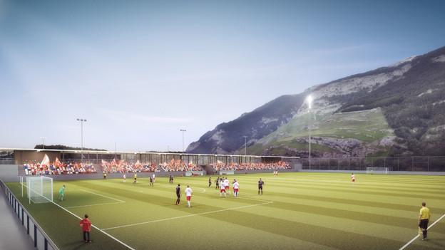 Auf der Oberen Au sind unter anderem zwei neue Fussballplätze geplant.