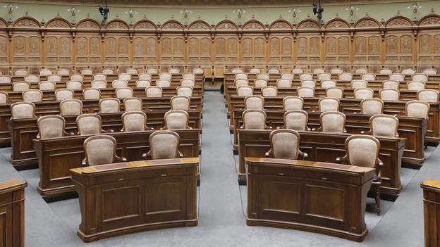 Der Nationalratssaal in Bern