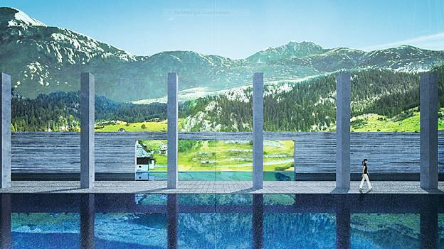 In Vals soll ein japanischer Garten entstehen.